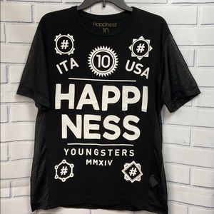 Happiness 10 Italy 🇮🇹 Mens T-Shirt Size M